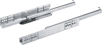 Unterflur-Teilauszug Quadro 25, Push-to-open, Stahl