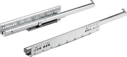 Unterflur-Teilauszug Quadro 25, mit Silent System, Stahl (NIK)
