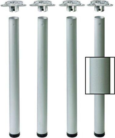Tischbeinset Efui, Aluminium