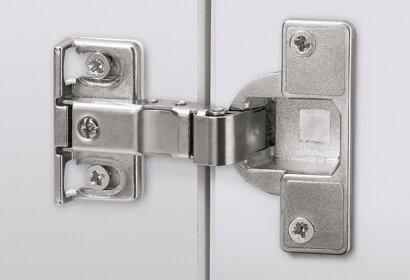 Kühlschrankumbauscharnier ET 582, Stahl/Zinkdruckguss