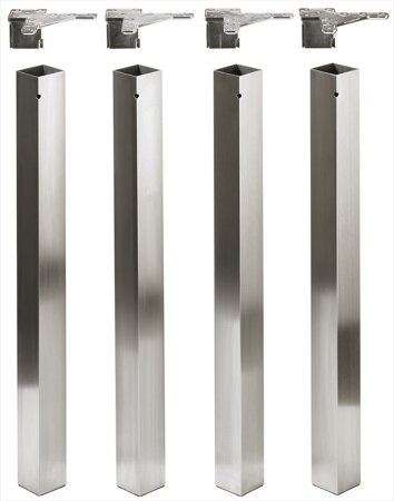 Design-Tischbein Afio, Edelstahl