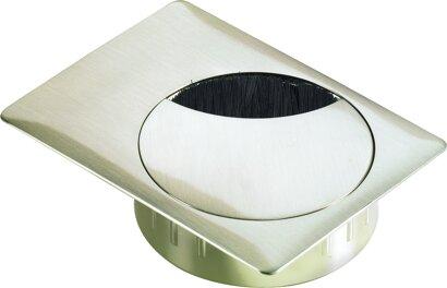 Kabeldurchlass (rund, eckige Auflage) Zinkdruckguss