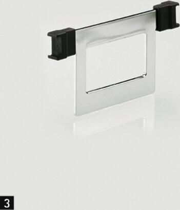 Trennbügel STYLE, zum aufclipsen, Stahl/Kunststoff