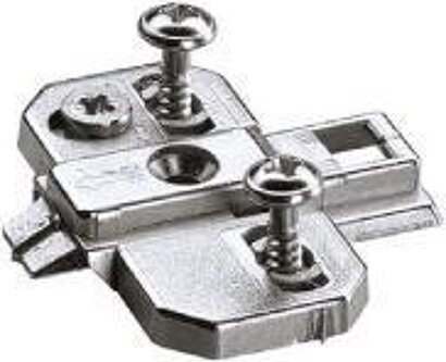 Kreuzmontageplatte Intermat 9000, mit vorm. Holzschrauben, Zinkdruckguss (NIK)