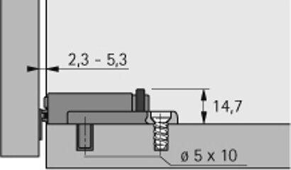 Dämpfer für Topfscharniere XL Linear, Kunststoff