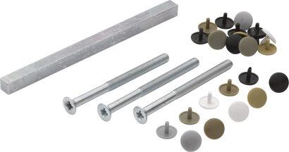 Befestigungsset für Profiltür-Türgriffgarnituren (Griff/Griff), VK 8 mm