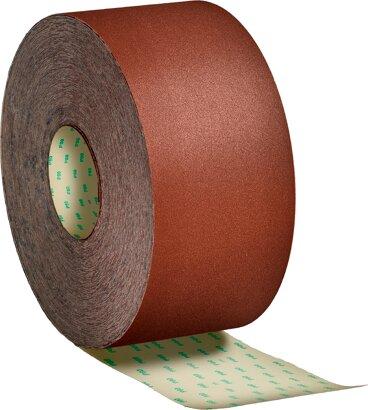 Schleifpapierrolle mit Papierunterlage