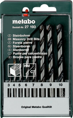 Steinbohrer-Kassette 8-teilig