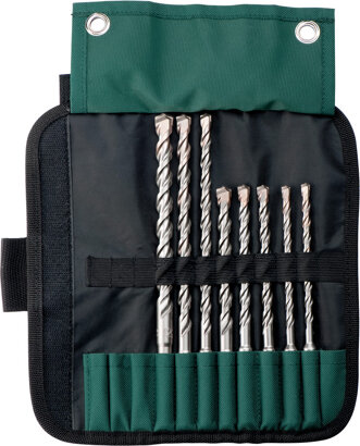 SDS-plus Pro 4-Rolltasche, 8-teilig