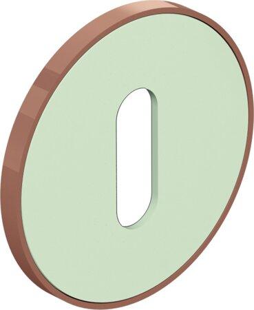 bicolor Schlüsselrosette 306.23VI, Materialkombination