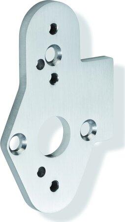 Adapterplatte 509520 für Stangengriff, Edelstahl