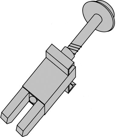 Distanzhalter mit Schraube