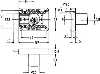 Möbel-Zylinderaufschraubschloss Nr. 2828