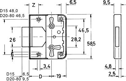 Möbel-Aufschraubschloss Nr. 772