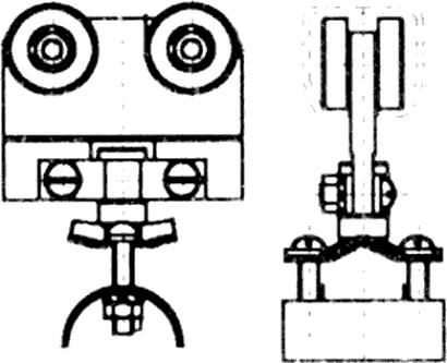 Rollapparat für Kunststoffleitungen zu Laufschiene Nr. 300