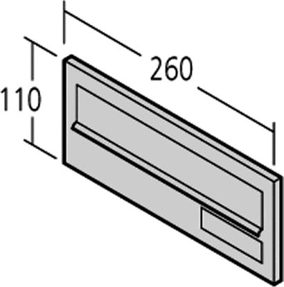 Einwurfklappe Modell 14-0-14212