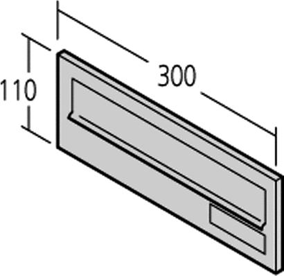 Einwurfklappe Modell 14-0-14222