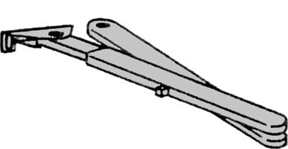 Rastfeststellarm zu Obentürschließer TS 73 / TS 83