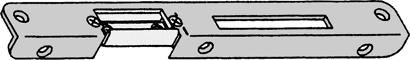 Winkelschließblech mit Austausch-Stück - schmale Ausführung