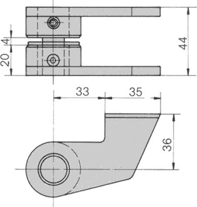 Zapfenband Nr. 7431 K für Bodentürschließer