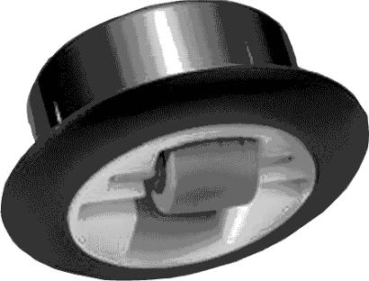 Einbohr-Möbellenkrolle mit Hartgummirad