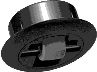 Einbohr-Möbelbockrolle mit Hartgummirad