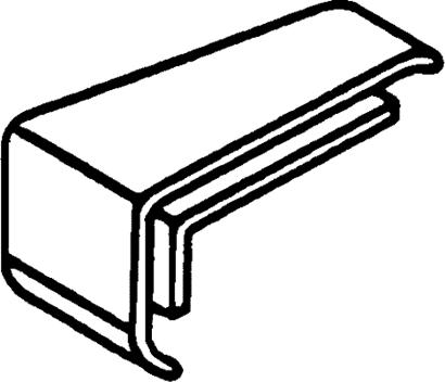 Endkappe für Fügelabdeckprofil FA21