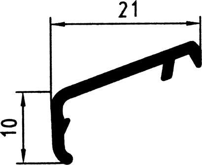 Flügelabdeckprofil FA21