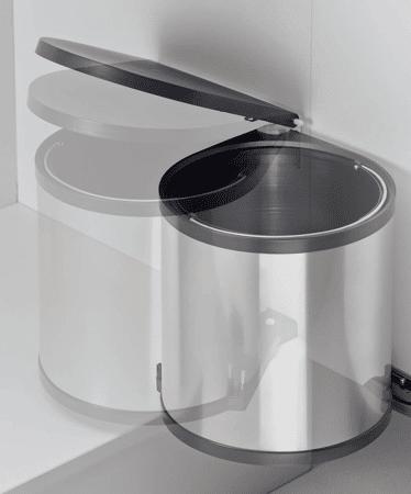 Einbau-Abfallsammler rund