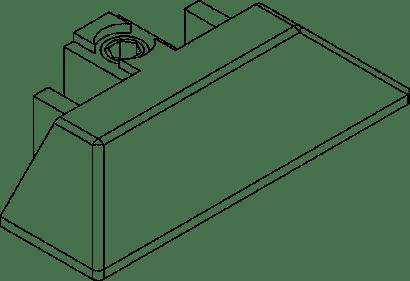 Schienenendstück zu Schiebetürbeschlag DIVIDO 80 H