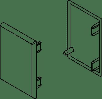 Endkappen-Set zu Schiebetürbeschlag PORTA 40 H