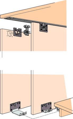 Beschlagset CLIPO 36 Mixslide 2 Türen