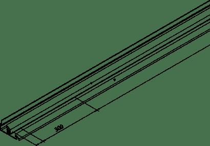 Doppelführungsschiene COMBINO 60 Alu