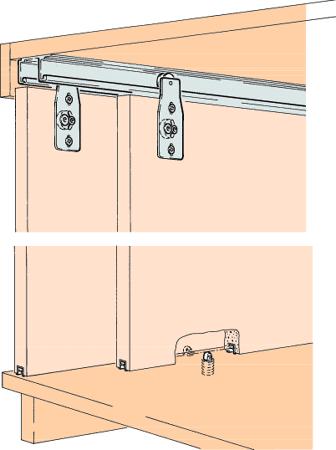 Beschlagset COMBINO 60 H Inslide 2 Türen