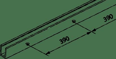 U-Führungsschiene zu Glasschiebetürbeschlag PORTA 100 GWF