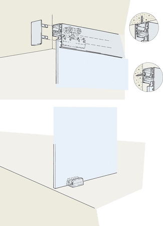 Beschlagset zu Glasschiebetürbeschlag PORTA 100 G