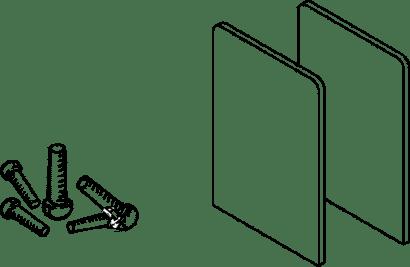 Befestigungs-Set für zu Glasschiebetürbeschlag PORTA 100 GWF