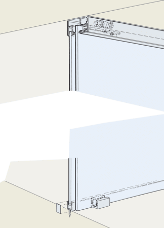 Beschlagset zu Glasschiebetürbeschlag PORTA 100 GWF