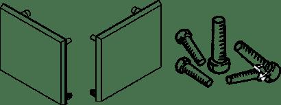 Endkappen-Set zu Glasschiebetürbeschlag PORTA 100 GW