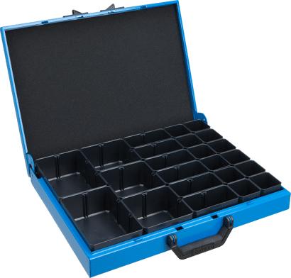 Metallkoffer Typ KM mit Insetboxen für Kleinteile