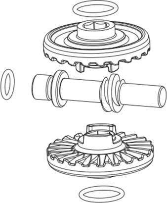 Getriebesatz für Ladeninnenöffnergetriebe