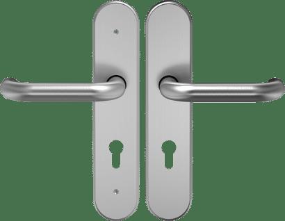 FS-Schutz-Drückergarnitur Edelstahl Linie 10