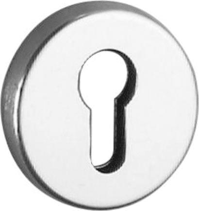 Schlüsselrosette Aluminium rund