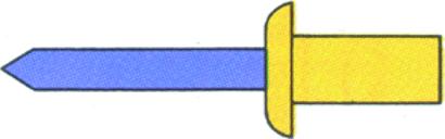 Dicht-Blindniete Kupfer / Stahl