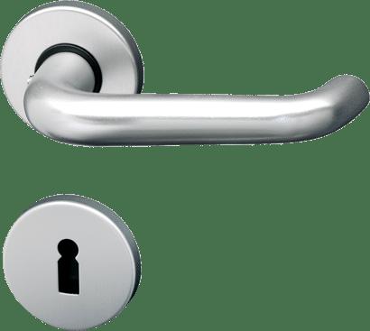 Innentür-Rosettengarnitur Aluminium rund Linie 10