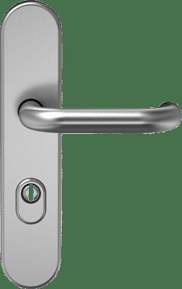 Schutz-Drückergarnitur mit Zylinderabdeckung Edelstahl Linie 10