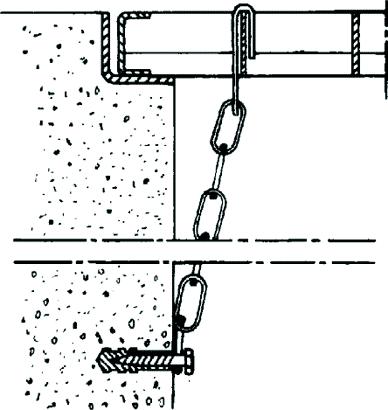 Gitterrost-Sicherungskette