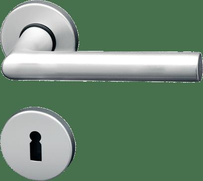 Innentür-Rosettengarnitur Aluminium rund Linie 50