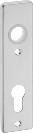 Kurzschild Aluminium eckig