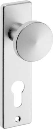 Knopf-Kurzschild Aluminium eckig